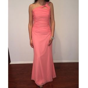 Jordan Coral Chiffon gown. Only worn once.